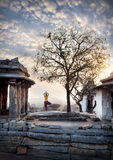 Yoga in Hampi Royalty Free Stock Photography