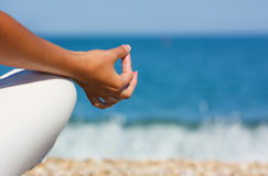 Yoga hand Royalty Free Stock Image