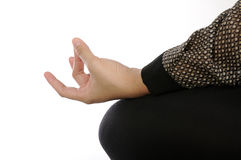 Yoga Hand Gesture Royalty Free Stock Photography
