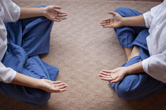 Yoga hands Stock Image