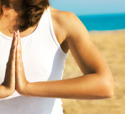 Yoga Hands Close Up Royalty Free Stock Photo