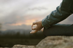 Yoga hands Royalty Free Stock Photography