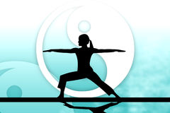 Yoga harmony. Abstract background with Yin-yang symbol Stock Photos