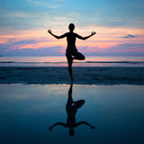Yoga, harmony of health Royalty Free Stock Image