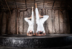 Yoga headstand Royalty Free Stock Image