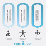 Yoga Healthy lifestyle infographic, . Royalty Free Stock Images