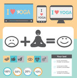 Yoga Healthy lifestyle infographic, vector. Stock Photos