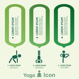 Yoga Healthy lifestyle infographic, vector. Royalty Free Stock Photography