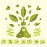 Yoga Healthy lifestyle infographics Royalty Free Stock Photos