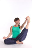 Yoga-holding-toe Royalty Free Stock Images