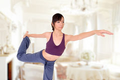 Yoga at home Stock Images