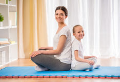 Yoga at home Stock Photography