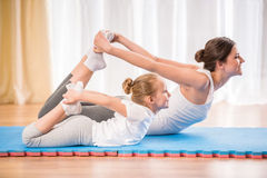 Yoga at home royalty free stock photography