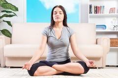 Yoga at home Stock Photos