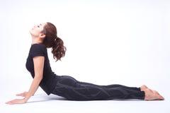 Yoga, i isolerat Arkivfoto
