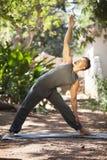Yoga i natur royaltyfria foton