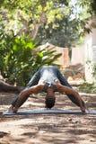 Yoga i natur arkivbilder