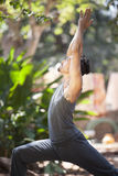 Yoga i natur royaltyfri fotografi