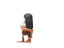 Yoga i natur royaltyfri bild