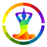 Yoga icon isolated over white background Stock Images