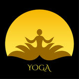 Yoga icon. Royalty Free Stock Photos