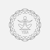 Yoga icon Royalty Free Stock Images