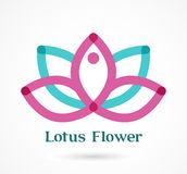 Yoga icon Lotus flower, element and symbol Stock Images