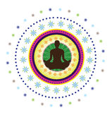 Yoga Icon Royalty Free Stock Photos