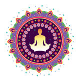 Yoga Icon Royalty Free Stock Photography