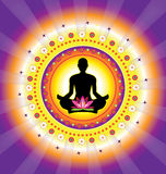 Yoga icon Royalty Free Stock Photo