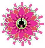Yoga icon Royalty Free Stock Images