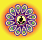 Yoga icon Stock Image