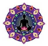 Yoga icon Royalty Free Stock Photo