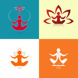Yoga icon set Stock Image