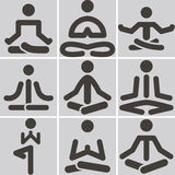 Yoga icons Royalty Free Stock Photo