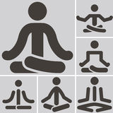 Yoga icons Royalty Free Stock Photography