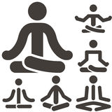 Yoga icons Stock Images