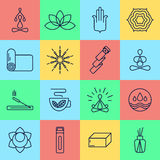 16 yoga icons. Stock Photography