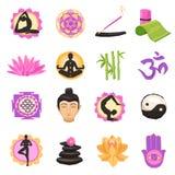 Yoga Icons Set Stock Photo