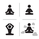 Yoga icons Royalty Free Stock Photo