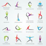 Yoga Icons Set Stock Image