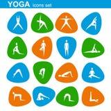 Yoga icons set Stock Images