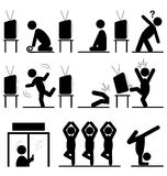 Yoga icons story of the path to success training isolated on whi Stock Image