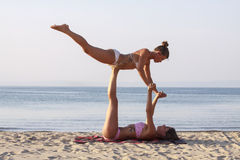 Yoga II di Acro Immagine Stock Libera da Diritti