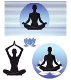 Yoga illustration Stock Photos