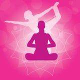 Yoga illustration Royalty Free Stock Photos