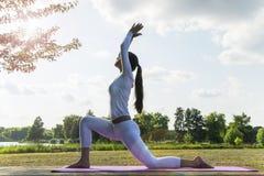 Yoga im Park Stockfotografie