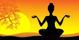 Yoga, immagine di vettore Immagine Stock