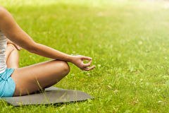 Free Yoga In The Park Royalty Free Stock Photography - 79050237