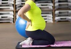 Yoga incinta Fotografia Stock